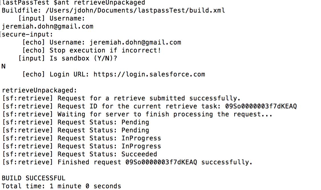 Authentication Into ANT – SFDC Cloud Ninja